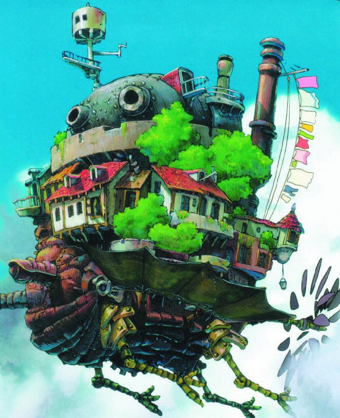 Кадр из мультфильма «Летающий остров Лапута»
